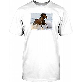 Galloping Horse In The Surf - Cool Kids T Shirt