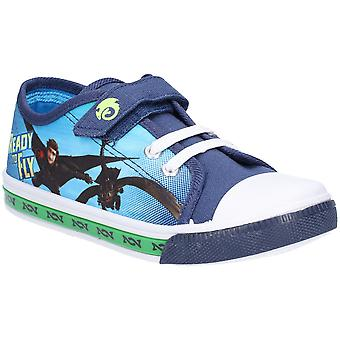 Leomil Boys How To Train Your Dragon Low Plimsoll Shoes