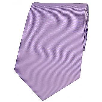 David Van Hagen Horizontal Ribbed Polyester Tie - Pale Lilac
