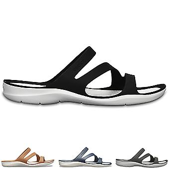 Womens Crocs Swiftwater Sandale Lightweight Strand Meer Sommer ausgeschnittenen Schuh