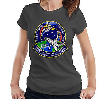 NASA STS 108 Endeavour Crew Badge Women's T-Shirt