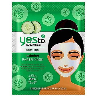 Yes to cucumbers paper sheet mask, single pack, 1 ea