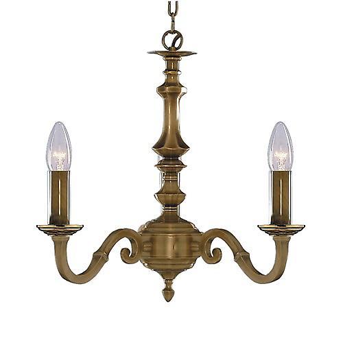 Searchlight 1073-3NG Málaga 3 brazo tradicional molde antiguo bronce cadena colgante