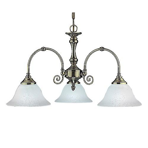 Searchlight 9353-3 Virginia Antique Brass 3 Light Complete With Glass
