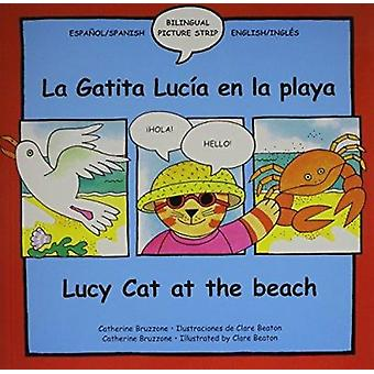 Lucy the Cat at the Beach/La Gatita Lucia En La Playa by C Bruzzone -