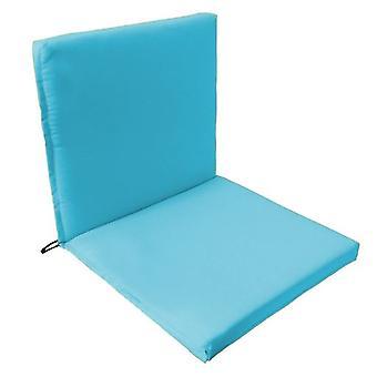 Gardenista® almohadilla de asiento de dos partes de color turquesa resistente al agua, paquete de 6