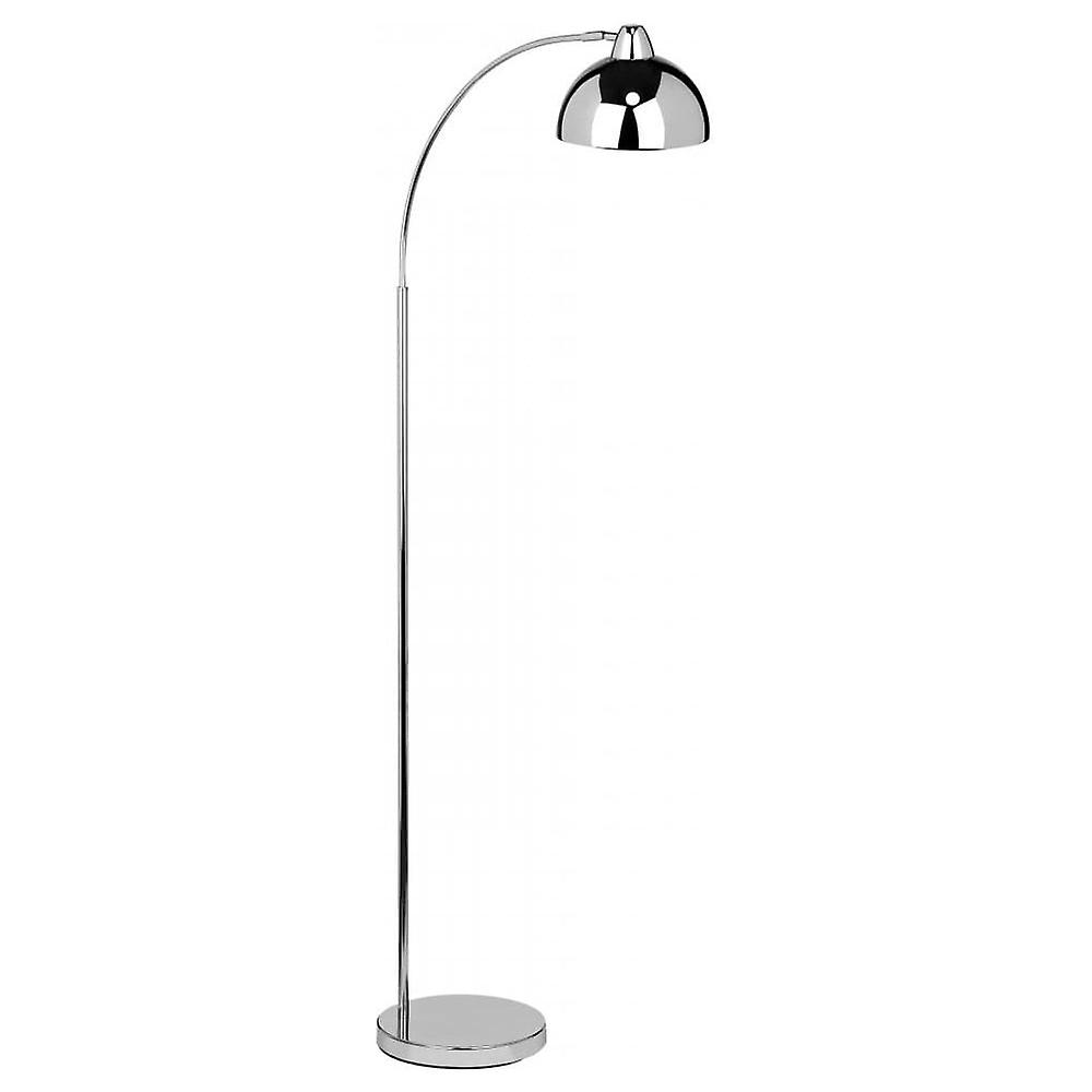 Fusion Living Curved Chrome Floor Standing Lamp