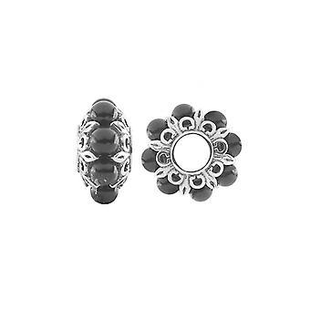Storywheels Silver & Onyx Wheel Charm S481ON