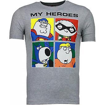 Super Family-T-shirt-Grey