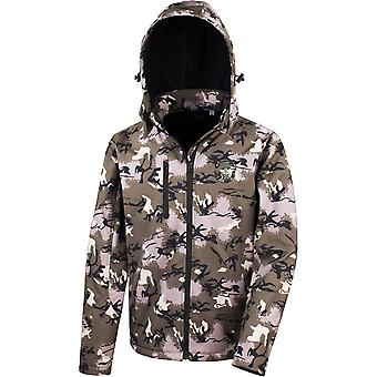 Somerset Light Infantry - Licensed British Army Embroidered Performance Hooded Camo Softshell Jacket