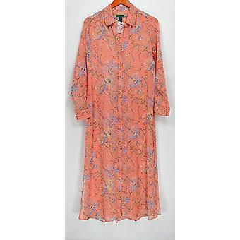 C. Wonder Women's Robes Spring Floral Print Button Pink A286676