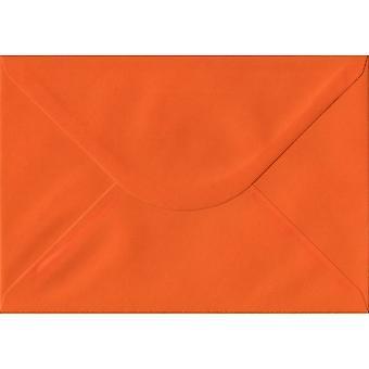 Orange Gummed C5/A5 Coloured Orange Envelopes. 100gsm FSC Sustainable Paper. 162mm x 229mm. Banker Style Envelope.