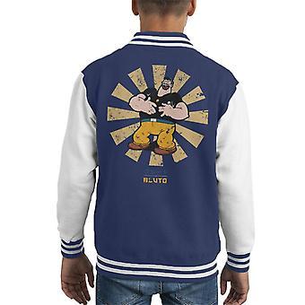 Bluto retro Japanse Popeye Kid ' s Varsity Jacket