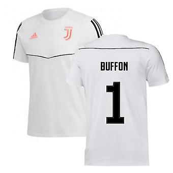 2019-2020 Juventus Adidas Training Tee (White) (Buffon 1)