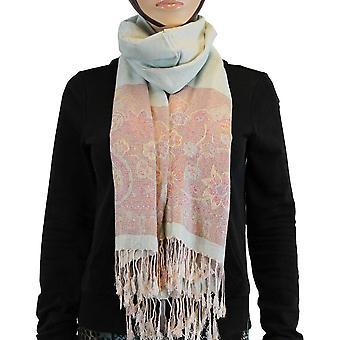 Scarf/shawl/Shawl 100% Pashmina Beige Red Multi Color