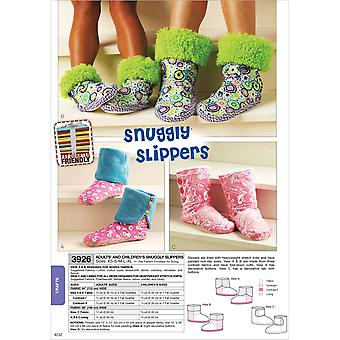Snuggly Slippers  Adult & Children Xs  S  M  L  Xl Pattern K3926