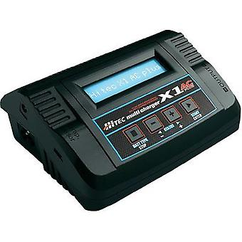 Scale model multifunction charger 12 V, 220 V 6 A Hitec Lead-acid, LiPolymer, LiFe, Li-ion, NiCd, NiMH