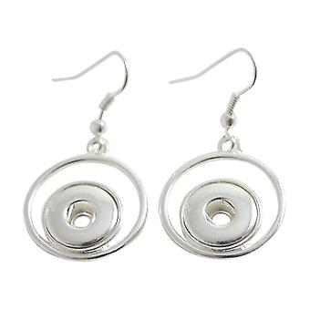 Silver plated earrings for mini click buttons KB0403-S