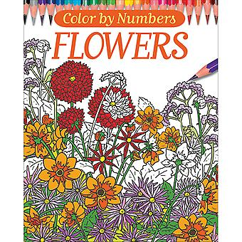 Chartwell Books-Color By Numbers - Flowers CW-34106