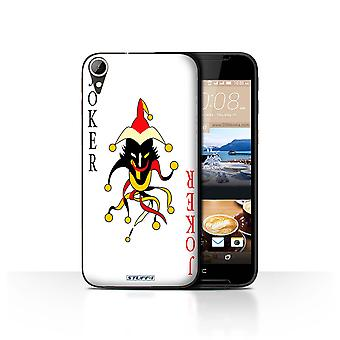 STUFF4 Case/Cover voor HTC Desire 830/Joker/speelkaarten