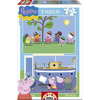 Educa Peppa Pig 2X20 (Toys , Boardgames , Puzzles)