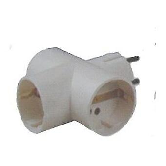 Comgas Adaptador 3 vías .16 a. 250v. Cable 3x1,5 mm2 c/ t/t lateral