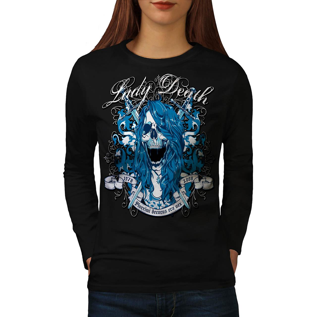 Lady Death Monster Horror Ghost Women Black Long Sleeve T-shirt | Wellcoda