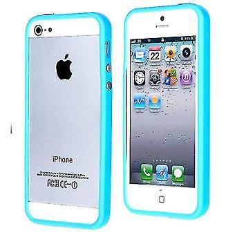 Goma TPU parachoques para el iPhone 5 (azul claro)