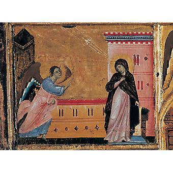 Cirkel Guido Da Siena St Peter en zes verhalen paneel 13e eeuw Italië Tuscany Siena nationale galerij van Art Everett CollectionMondadori Portfolio Poster afdrukken