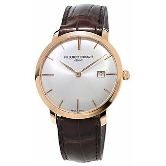 Frederique Constant Mens Slimline Automatic Brown Leather Strap FC-306V4S4 Watch