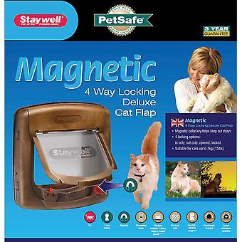 Staywell Deluxe magnetiske kat Flap Woodgrain