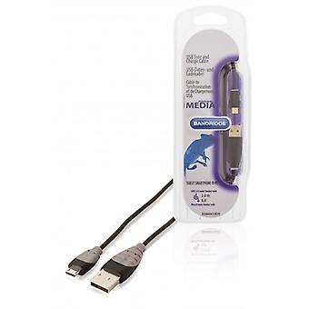 Bandridge USB 2.0 cable A male-Micro B male 2.00 m black