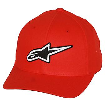 Alpinestars Flexfit Curve Cap ~ Corporate red