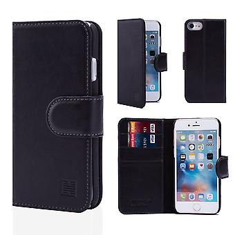 32nd Premium Leather Wallet for Apple iPhone 7 / iPhone 8 - Black