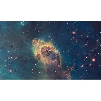 Hubble telescoop - Carinanevel in zichtbaar licht Poster Print Giclee