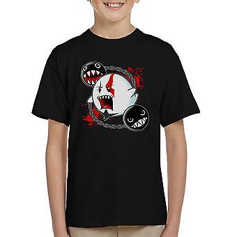 Ghost Of Sparta God Of War Mario Kid's T-Shirt