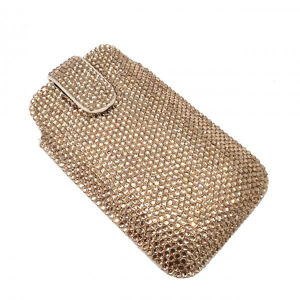 W.A.T  Sparkling Gold Crystal Phone Case For Blackberry Or Iphone
