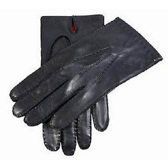 Dents Silk Lined Kingston Leather Gloves - Black