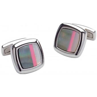Duncan Walton Sculptor Mother of Pearl Cufflinks - Grey/Pink/Silver
