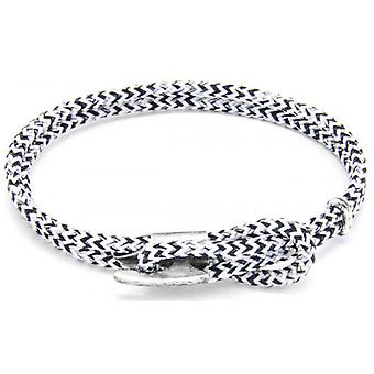 Anchor and Crew Padstow Silver and Rope Bracelet - White Noir