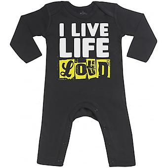 Spoilt Rotten I Live Life Loud Baby Footless Romper