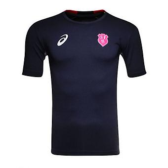 2015-2016 Stade Francais Home Asics Rugby Training Tee (Navy)