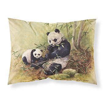 Osos panda por Daphne Baxter tela almohada estándar
