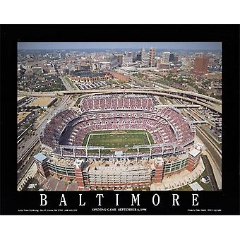 Baltimore Maryland Ravens Stadium Poster Print by Mike Smith (10 x 8)