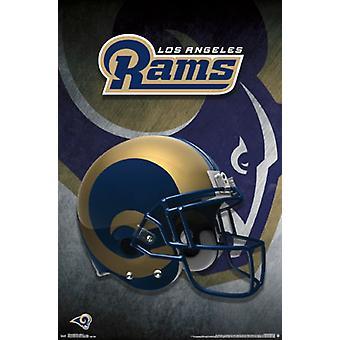 Los Angeles Rams - hjälm 16 affisch affisch Skriv