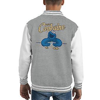Sesame Street Cookie Monster Enjoy Cookaine Kid's Varsity Jacket