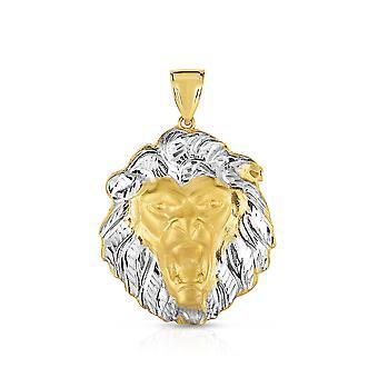 10K to Tone gull Lion hodet anheng Lion ansikt sjarm for menn