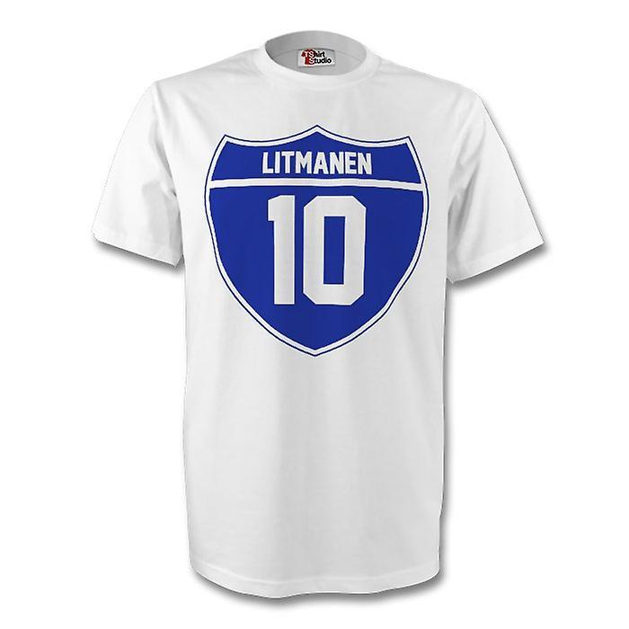 Jari Litmanen Finland Crest Tee (white) - Kids