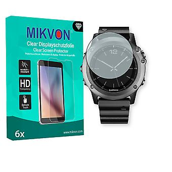 Garmin fenix 3 Saphir Screen Protector - Mikvon Clear (Retail Package with accessories)