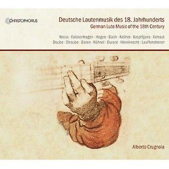 Weiss/Kellner/Falckenhagen/Straube/Bach/Daube/Kuhn - Deutsche Lautenmusik Des 18. Jahrhunderts [CD] USA importerer